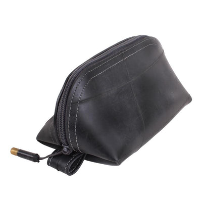Recycled Rubber Wedge Pouch - Grey