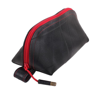Recycled Rubber Wedge Pouch - Red