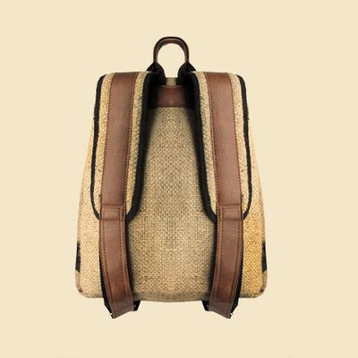 Reclaimed Burlap Sack Backpack (straps)