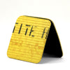 Yellow Fire Hose Coasters