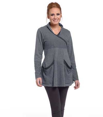 Zinnia Tunic Eco-Friendly Top - Charcoal/Ash