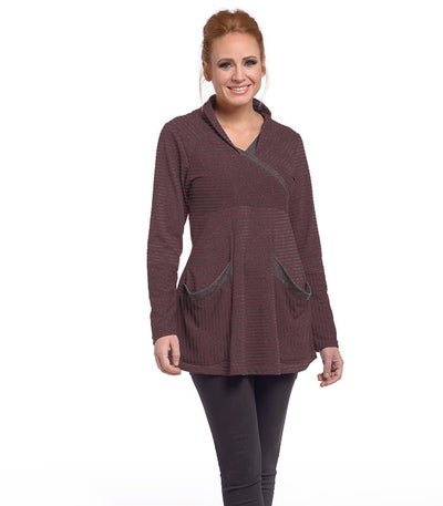 Zinnia Tunic Eco-Friendly Top - Earth/Merlot