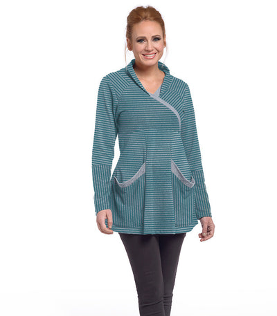 Zinnia Tunic Eco-Friendly Top - Tide/Ash