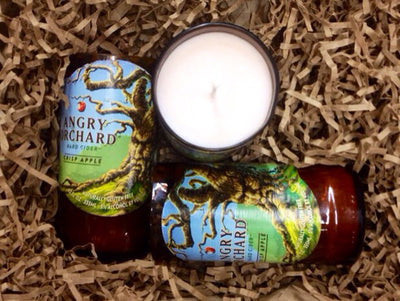 Angry Orchard Beer Bottle Candle
