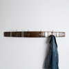 Barrel Stave Coat Rack With Bike Chain Hooks