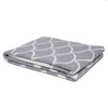 Eco Reversible Fish Scale Throw Blanket (Aluminum/Milk)
