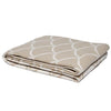Eco Reversible Fish Scale Throw Blanket (Flax)