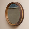 Hammered Copper Wine Barrel Mirror