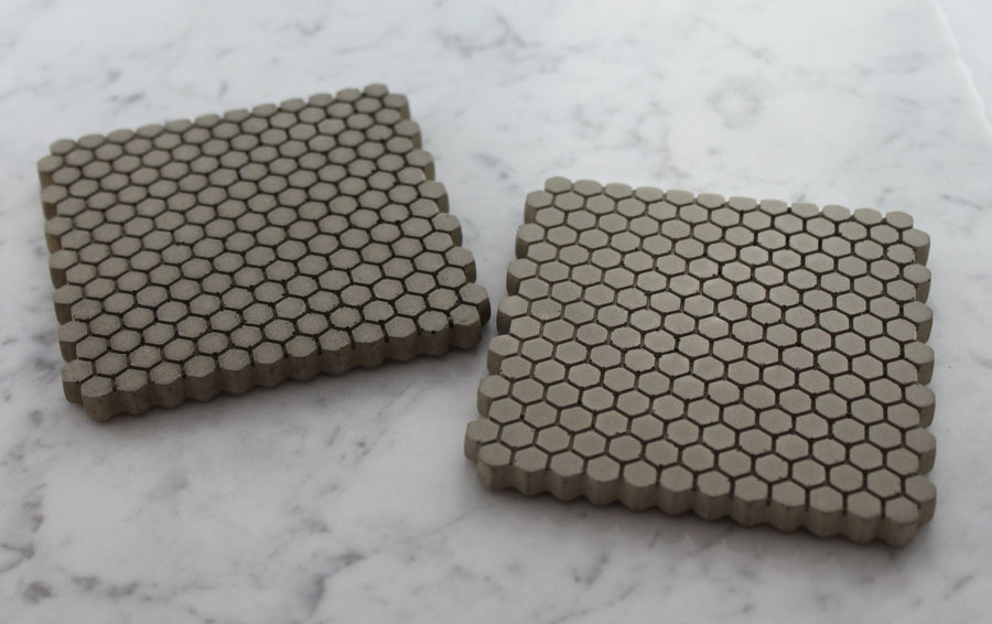 Concrete Hexagonal Coasters