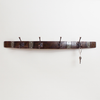 Wine Stave Banded Coat Hook with Square Hooks