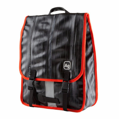Madison Recycled Rubber Backpack - Mandarin Trim