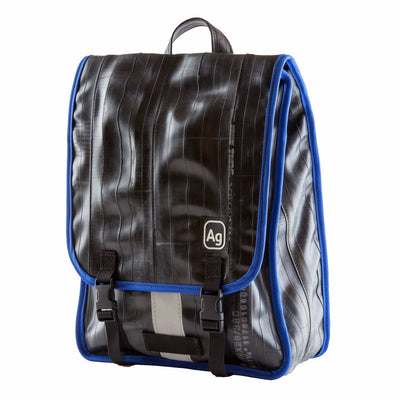 Madison Recycled Rubber Backpack - Royal Blue Trim