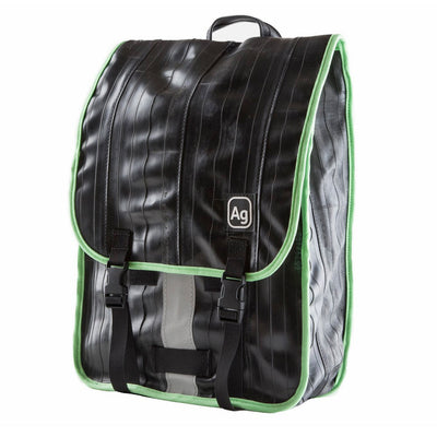 Madison Recycled Rubber Backpack - Green Trim