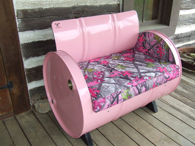 Drum Barrel Pink Camo Armchair