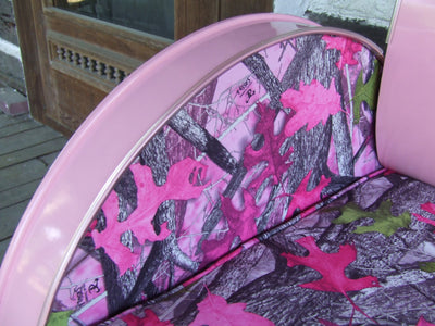 Country Chic Pink Camo Chair Cushion
