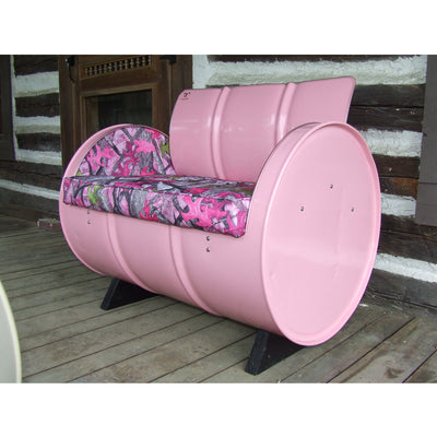 Drum Barrel Country Chic Pink Camo Armchair