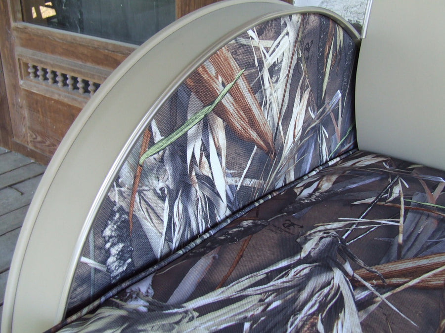 Drum Barrel Metal Armchair with Camo Seat