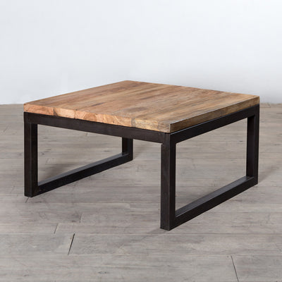Weathered Iron & Reclaimed Wood Coffee Table