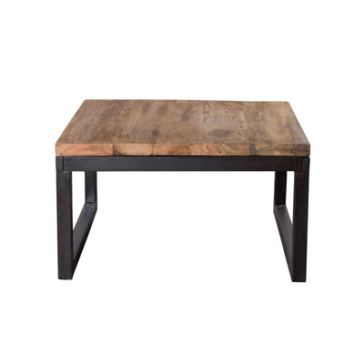 Weathered Reclaimed Wood Square Coffee Table