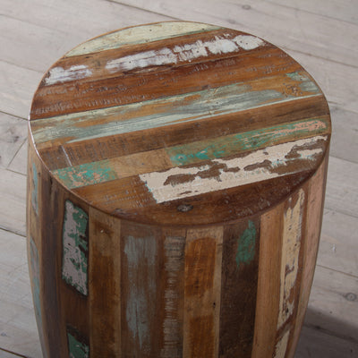 Weathered Reclaimed Wood Round Table