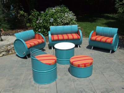 Santa Fe 6-Piece Barrel Seating Group