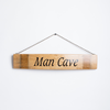Man Cave Sign on Wine Stave with Chain