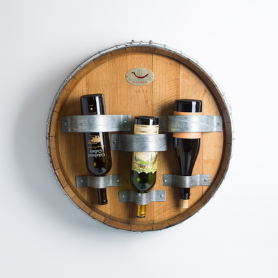 Wine Barrel Top Wall Bottle Rack