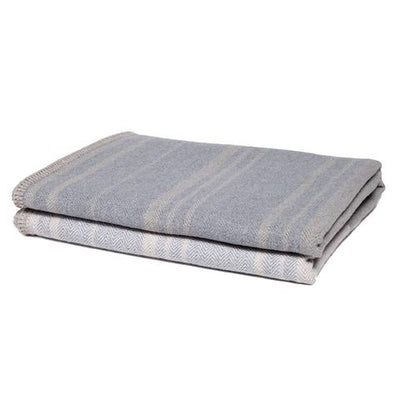 Eco Woven Square Throw Blanket (Tri-Panel Neutrals)