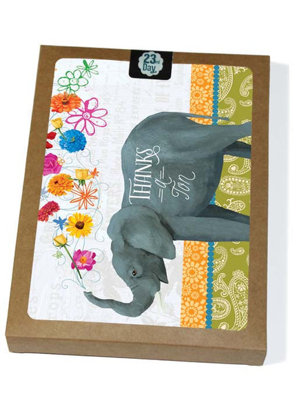 Elephant Thanks Boxed Cards