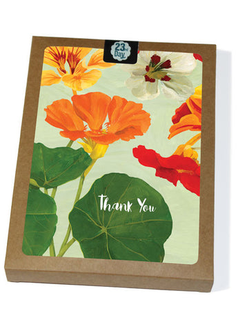Thanks Nasturtium Boxed cards