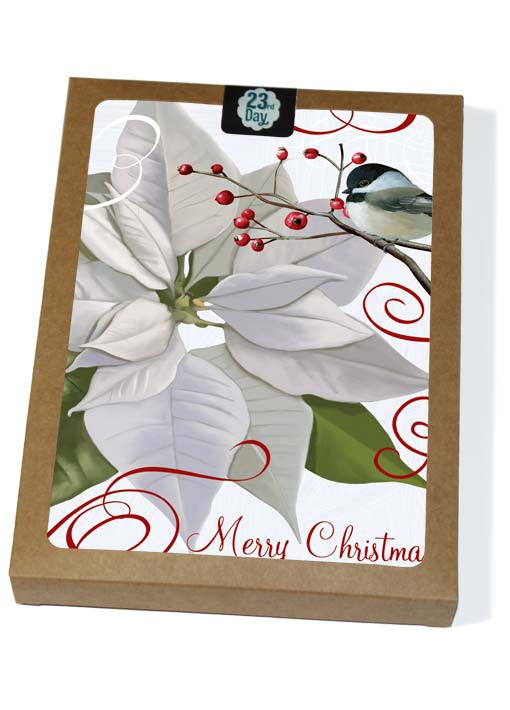 White Poinsettia Boxed Cards