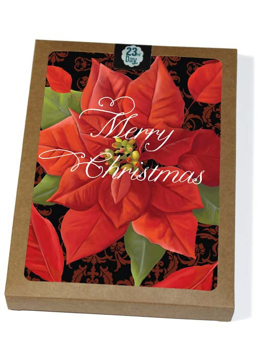Windy Poinsettia & Damask Boxed cards