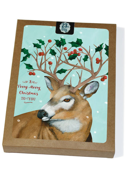 Winter Deer Boxed
