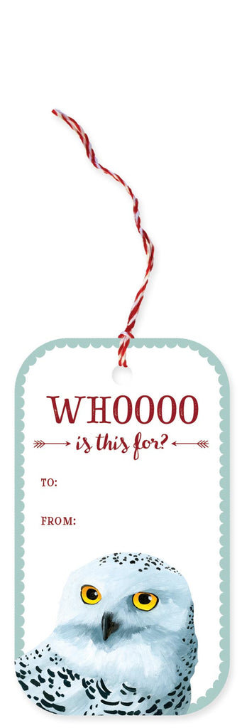 Snowy Owl Holiday Gift Tags