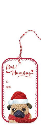Humbug Pug  Holiday Gift Tags