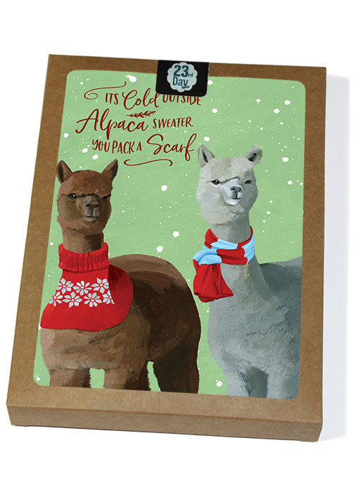 Alpaca Christmas Boxed Cards