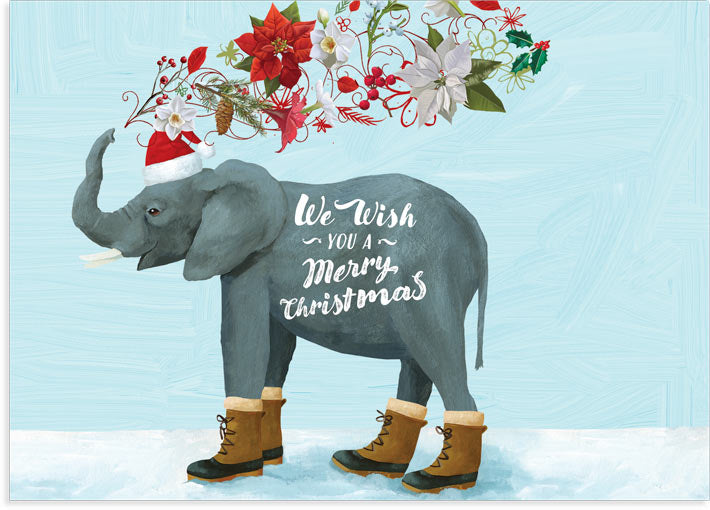 Holiday Elephant Boxed Cards