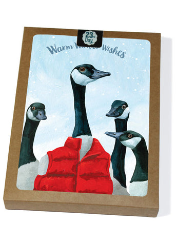 Goose Down Vest Boxed Holiday Cards