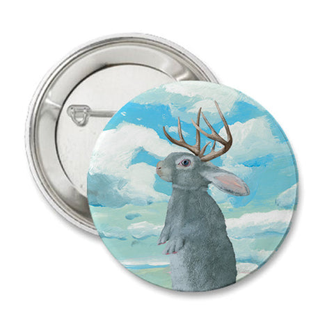 Jackalope Round Button