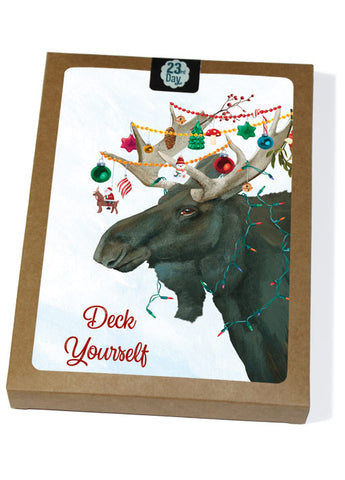 Moose Boxed Holiday Cards