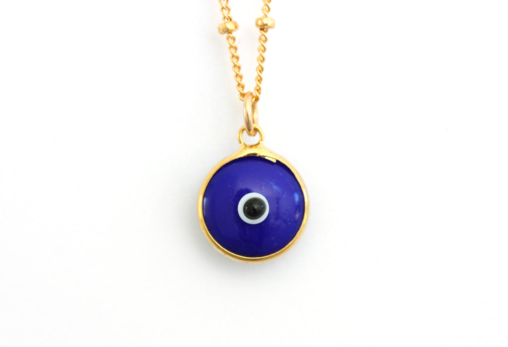 Dark blue evil eye necklace
