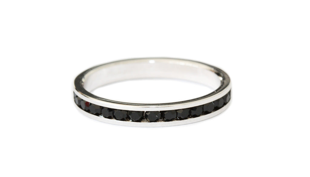 Black stacking ring