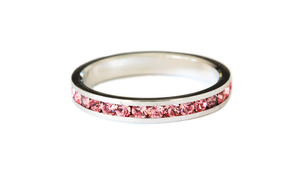 Pink stacking ring