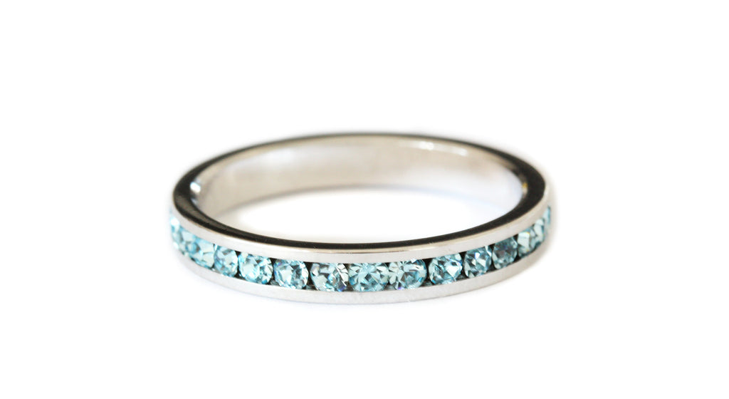 Pale blue stacking ring