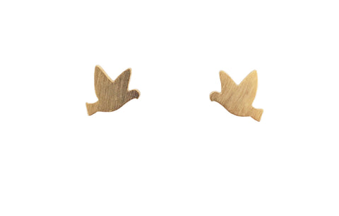 Tiny bird earrings | gold