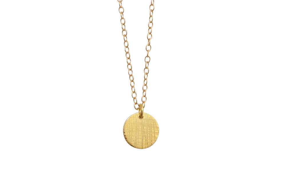 Gold disc necklace