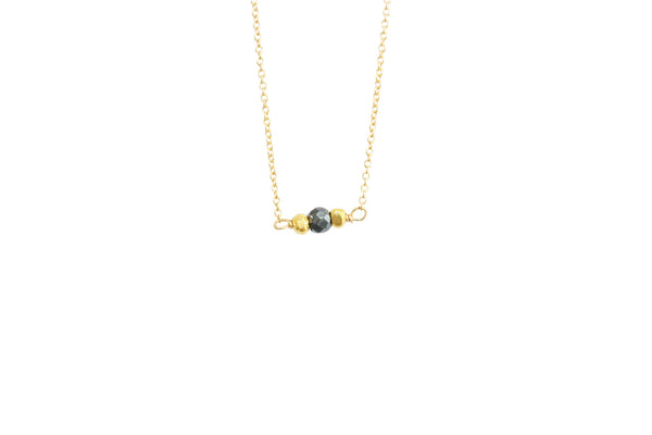 Tiny pyrite necklace