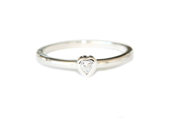 Love heart stacking ring