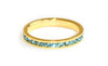 Pale blue stacking ring | Gold