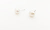 Pearl stud earrings | silver